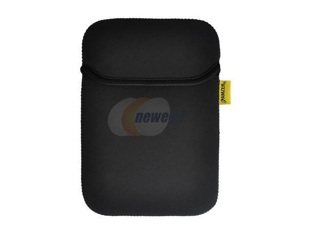 Amzer 90807 Neoprene Sleeve 10 Inches Case Cover with Pocket - Matt Black / Leaf Green