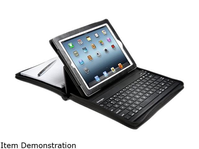 Kensington KeyFolio Executive Zipper Folio with Bluetooth Keyboard for New iPad Model K39695US