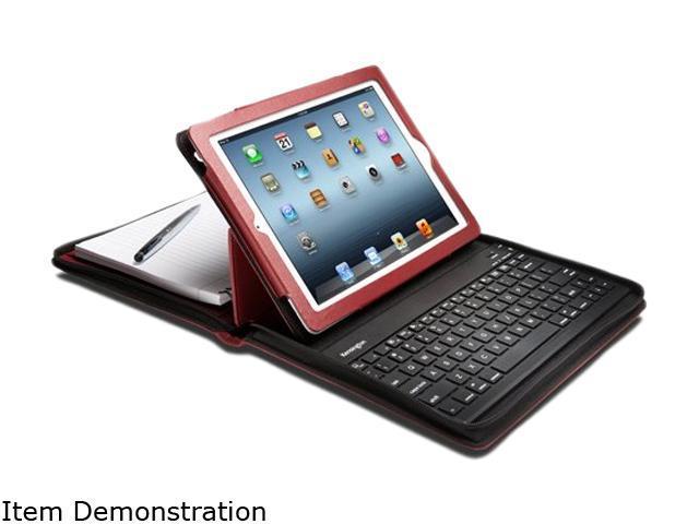 Kensington Red KeyFolio Executive Zipper Folio with Bluetooth Keyboard for New iPad Model K39740US