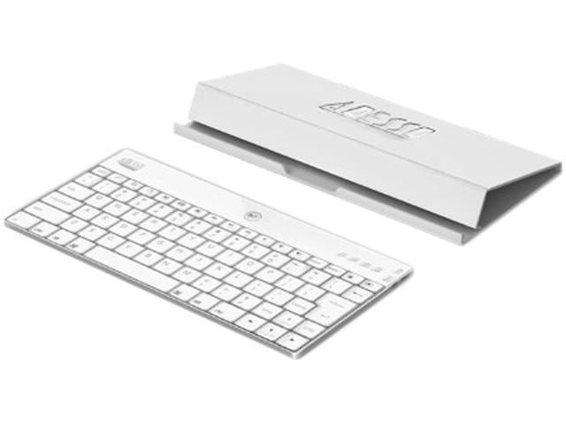 Adesso X scissors-switch aluminum WKB-1000XW bluetooth keyboard with case stand White