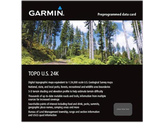 GARMIN TOPO U.S. 24K - Texas MicroSD Card with SD Card Adapter