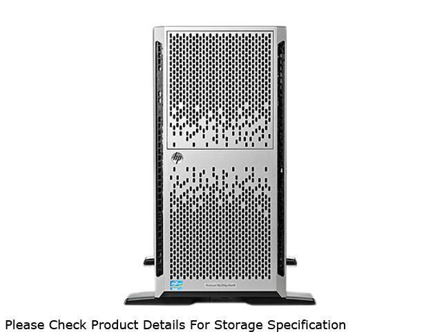 HP ProLiant ML350p Gen8 Tower Server System Intel Xeon E5-2609 2.4GHz 4C/4T (Max 2 Sockets/8 Cores) 4GB (1 x 4GB) DDR3 646675-001