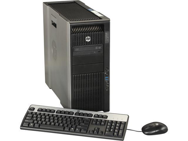 HP Z820 Workstation Rackable minitower Server System 2 x Intel Xeon E5-2650 2GHz 8C/16T 4GB DDR3 Windows 7 Professional 64 ...