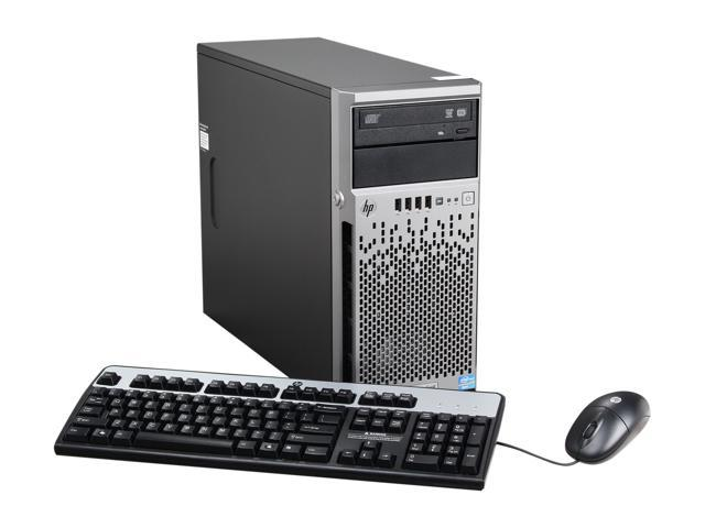 HP ProLiant ML310e Gen8 Micro ATX Tower (4U) Server System Intel Xeon E3-1230V2 3.3GHz 4C/8T 8GB (2 x 4GB) DDR3 686234-S01