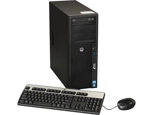 HP Z420 Workstation Convertible Minitower Server System Intel Xeon E5-1603 2.8GHz 4C/4T 4GB DDR3 500GB 7200 rpm SATA NCQ Windows 7 Professional 64 B2B96UT#ABA