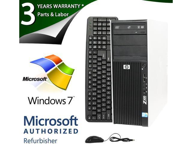 HP Z400 Workstation with Intel XEON W3560 3.20Ghz, 8GB RAM, 1TB HDD, DVDRW, NVIDIA Quadro NVS 290 Dual DVI, Windows 7 Pro 64 Bit