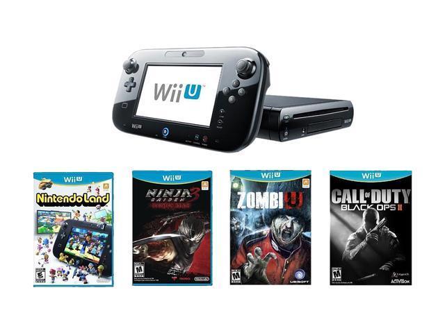 Nintendo Wii U 32GB Bundle w/Ninja Gaiden 3 Wii U, Call of Duty Black Ops 2, and Zombi U Black