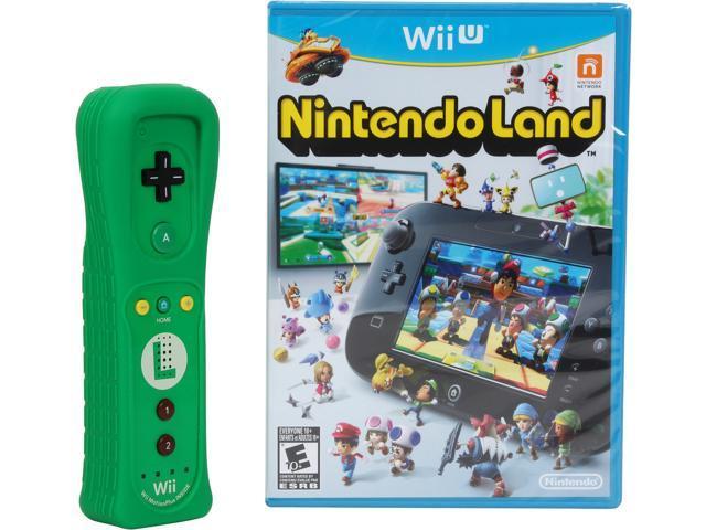 Nintendo Luigi Wii U Remote Bundle w/ Nintendo Land
