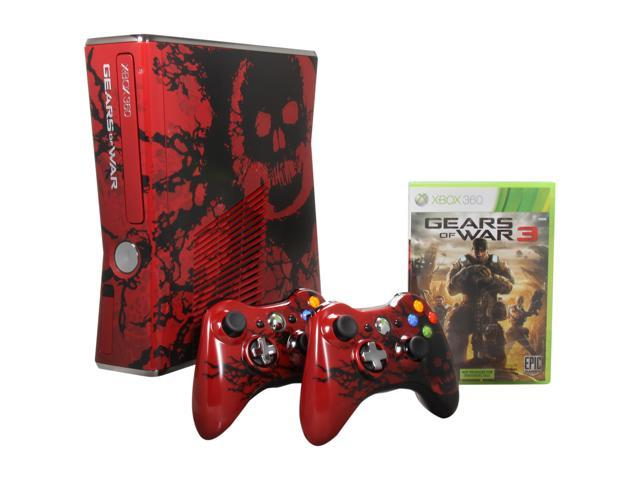 Microsoft Gears of War 3 Limited Edition Console 320 GB Hard Drive Red