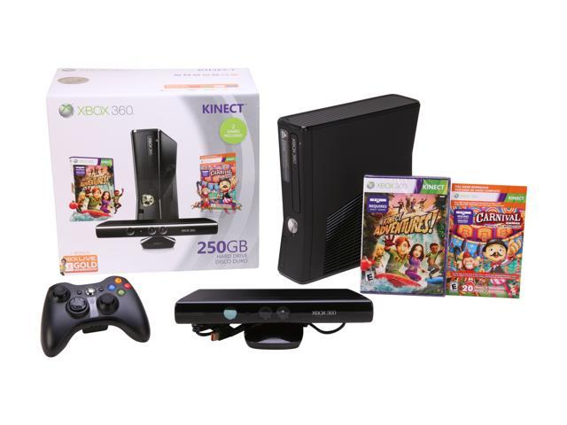 Microsoft XBOX 360 250GB Kinect Holiday Bundle 250 GB Hard Drive Black