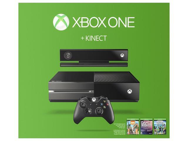 Xbox One 500GB Console with Kinect - 3 Game Bundle (Dance Central Spotlight + Kinect Sports Rivals + Zoo Tycoon)