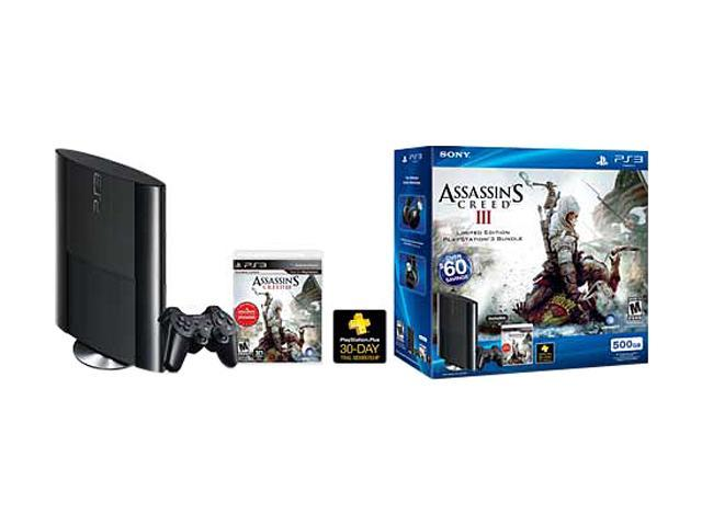 SONY PS3 500GB Assassin's Creed 3 System Bundle