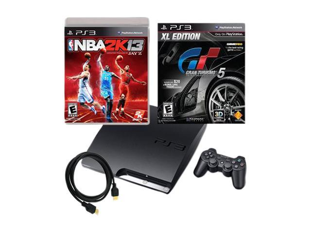 Sony PS3 160GB Bundle w/NBA 2k13 and Gran Turismo 5 XL plus HDMI Cable included
