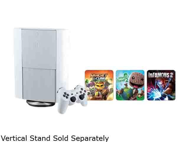Playstation3 500 gb console WHITE with 12 months of membership of Playstation Network Plus (PSN+)
