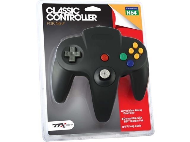 TTX Tech nxn64-019 N64 Controller Black