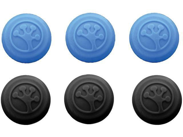 SquidGrip Grip-it 008GRII6 Analog Stick Covers 6-Pack Black and Blue