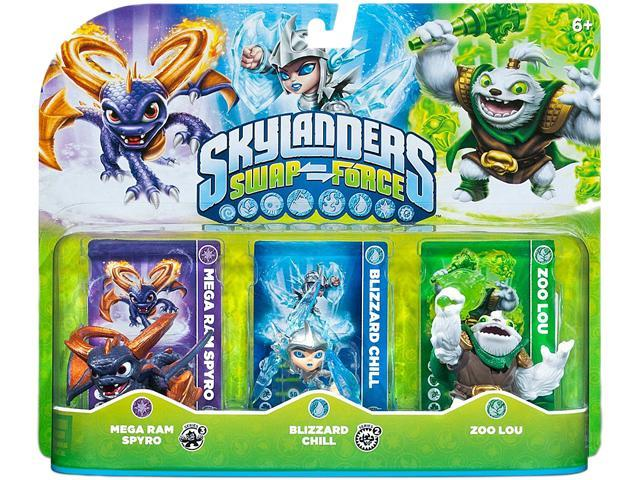 ACTIVISION Skylanders SWAP Force Triple Character Pack 2: Mega Ram Spyro - Blizzard Chill - Zoo Lou