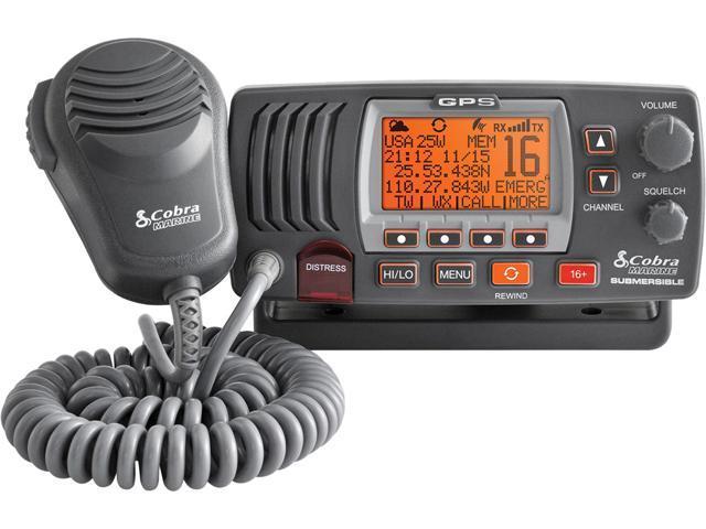 Cobra MRF77BGPS 25 Watt Class-D Fixed Mount VHF Radio Grey