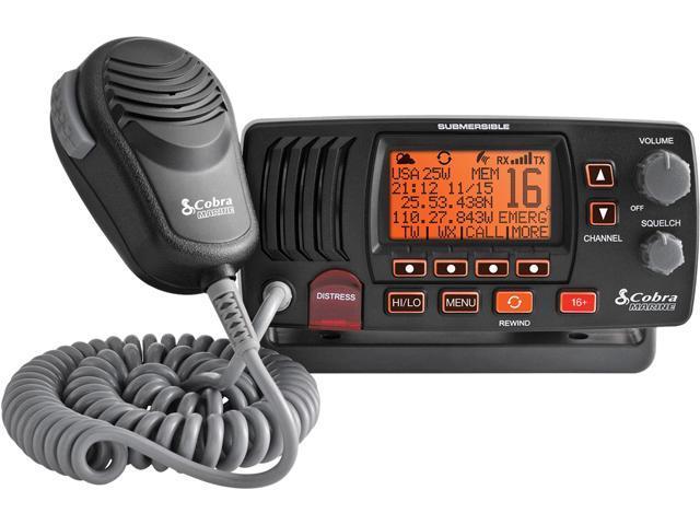 Cobra MRF57B 25 Watt Class-D Fixed Mount VHF Radio, Black