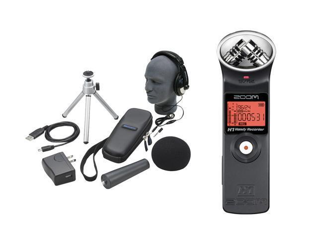 Zoom H1 PAK Handy Portable Digital Recorder Package with Professional Closed ucp Headphones and Accessories Bund