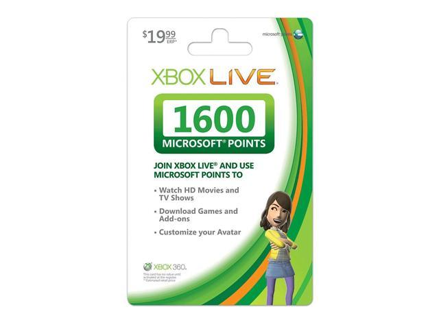 Microsoft  Xbox 360 Live 1600 Points