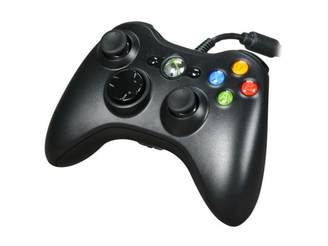 Xbox 360 Wired Controller BlackGlossy Black NeweggcomXbox 360 Controller Wired