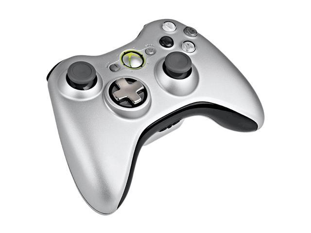 Microsoft Xbox 360 Wireless Controller w/Play & Charge Pack Silver