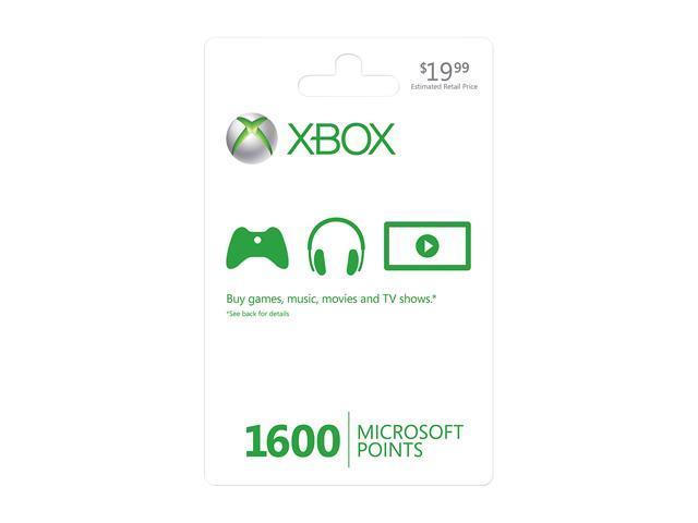 Microsoft Xbox LIVE 1600 Microsoft Points