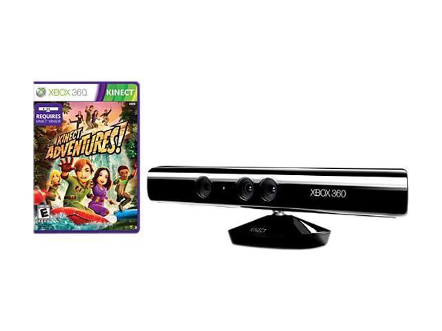 Microsoft Xbox 360 Kinect Sensor; Black; Kinect Adventure Game Bundle