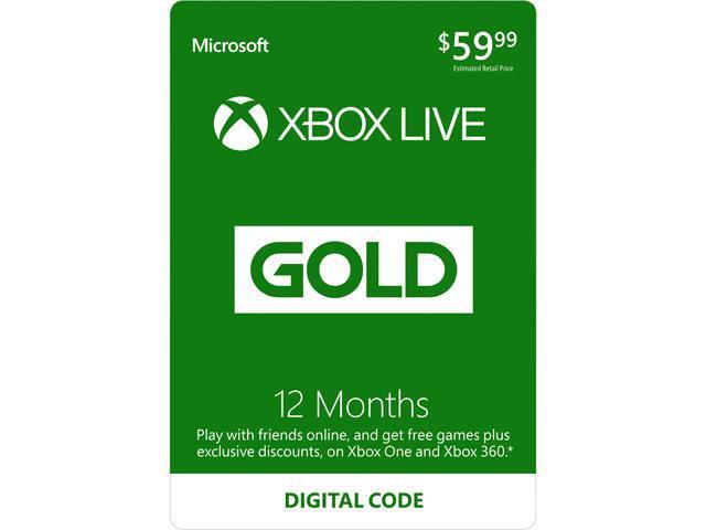 Xbox LIVE 12 Month Gold Membership (Digital Code)
