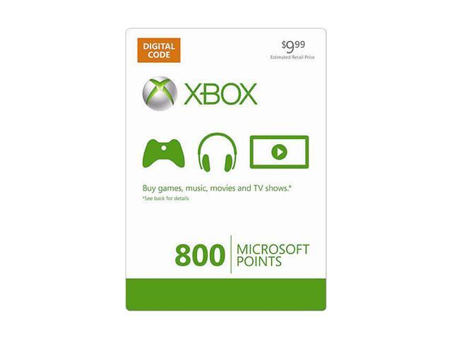 Microsoft Xbox LIVE 800 Microsoft Points (Digital Code)