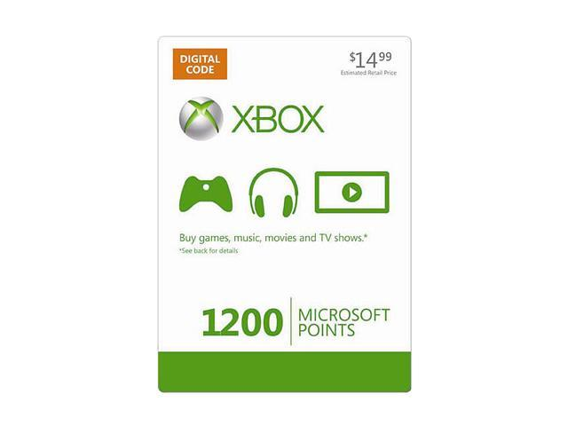 Microsoft Xbox LIVE 1200 Microsoft Points (Digital Code)