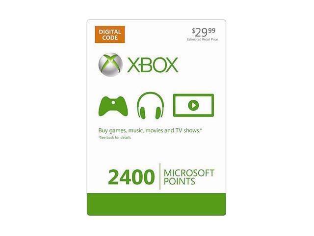 Microsoft Xbox LIVE 2400 Microsoft Points (Digital Code)