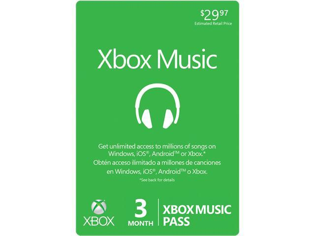 Microsoft 3 Month XBOX Music Pass (Digital Code)