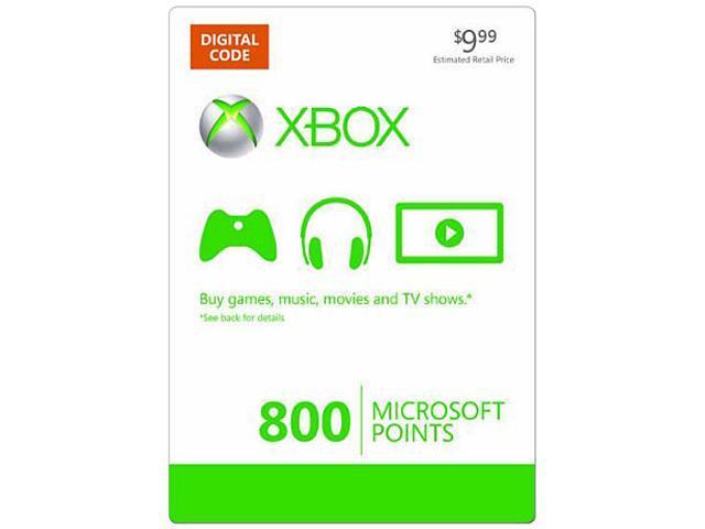 Microsoft Xbox live 800 points