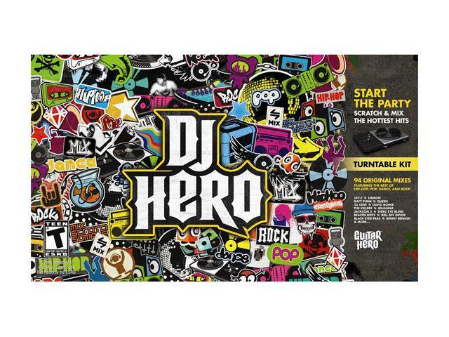 DJ Hero w/turn Table Xbox 360 Game