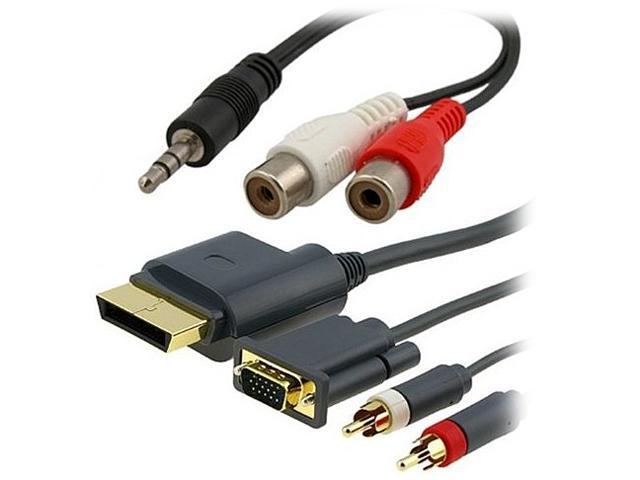 INSTEN For Xbox 360 HD VGA AV Cable + RCA To 3.5MM Adapter