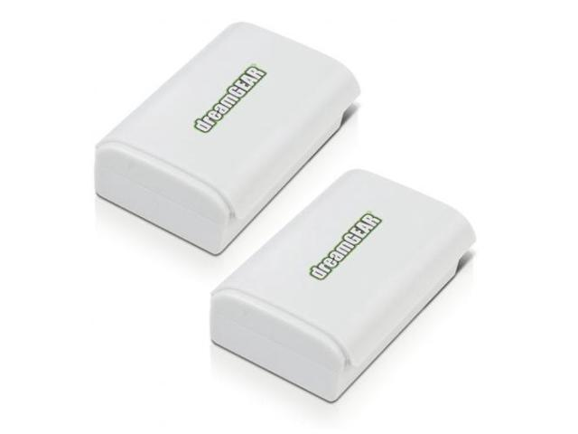 dreamGEAR Power Brick Rechargeable Battery Twin Pack for Xbox 360 Black