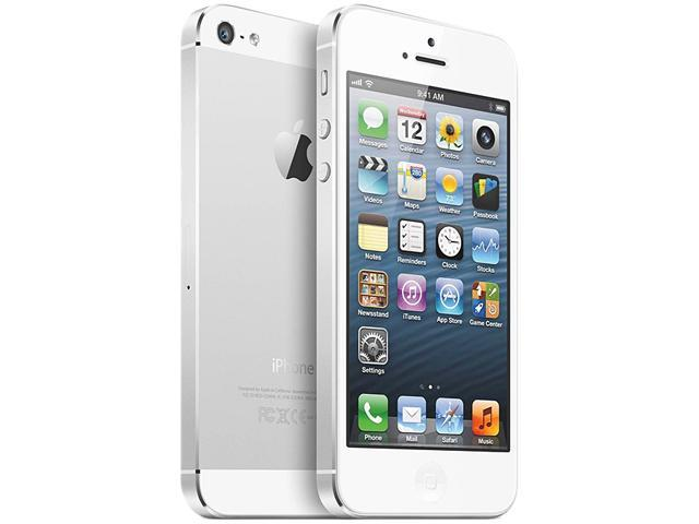 Unlocked AT&T Apple iPhone 5 White 4G LTE GSM Smart Phone with 4