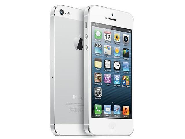 """Apple iPhone 5 MD655LL/A White 3G LTE Smart Phone with 4"""" Screen / iOS 6 / 16GB Memory for Verizon"""