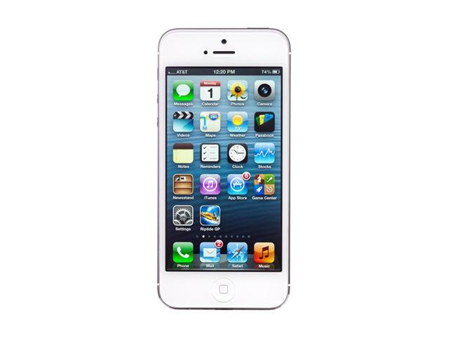 "Apple iPhone 5 MD296LL/A 32 GB storage, 1 GB RAM Unlocked Smart Phone with 4"" Screen/ iOS 6 / 32GB Memory 4.0"" White"
