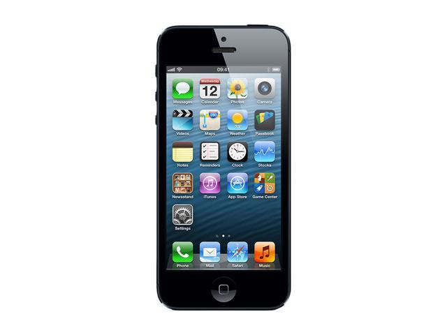 "Apple iPhone 5 MD642LL/A 64 GB storage, 1 GB RAM Unlocked Smart Phone with 4"" Screen/ iOS 6 / 64GB Memory 4.0"" Black"