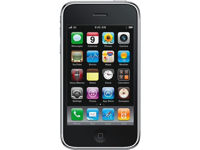 "Apple iPhone 3G MB046LLA-R 8 GB, 128 MB RAM 8GB CellPhone for AT&T 3.5"" Black"