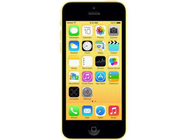 "Apple iPhone 5C 16GB 4G LTE Unlocked Cell Phone 4.0"" 1GB RAM Yellow"