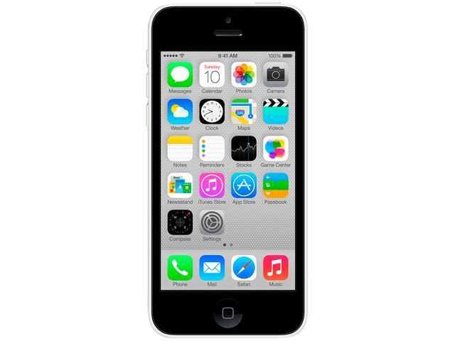 "Apple iPhone 5C 32GB MF129LL/A 32GB 4G LTE Unlocked GSM Cell Phone 4.0"" 1GB RAM White"