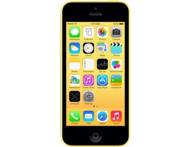 Apple iPhone 5c Yellow 8GB Verizon / GSM Phone CRC