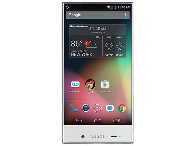 SHARP Aquos Crystal 306SH White Cell phone - Unlocked Cell phones