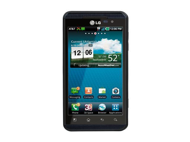 "LG Thrill 4G P925 8 GB storage, 512 MB RAM Unlocked GSM Android Cell Phone 4.3"" Black"