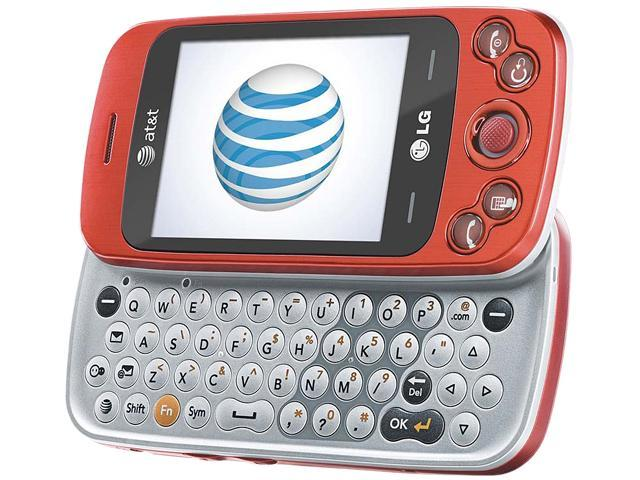 LG Rumour Plus GW370 Red 3G Slider Touch Screen QWERTY Keyboard GPS FM Radio Camera Bluetooth Unlocked GSM Cell Phone