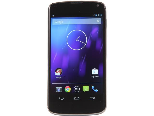 "LG Nexus 4 E960 8 GB storage, 2 GB RAM 3G 8GB Unlocked Cell Phone 4.7"" Black"